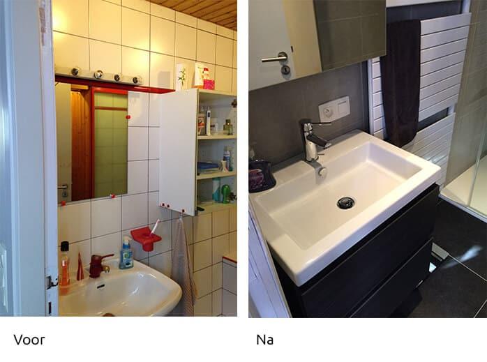 Voor & Na badkamerrenovatie